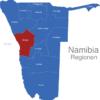 Map Namibia Regionen Erongo