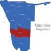 Map Namibia Regionen Hardap