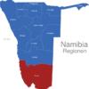 Map Namibia Regionen Karas