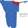 Map Namibia Regionen Kavango