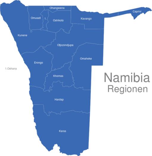Namibia Regionen