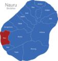 Map Nauru Bezirke Aiwo