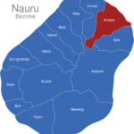 Map Nauru Bezirke Anabar