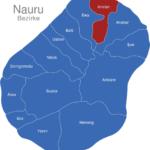 Map Nauru Bezirke Anetan