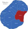 Map Nauru Bezirke Anibare