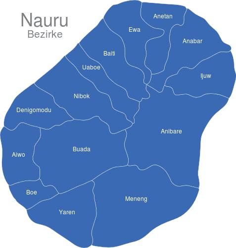 Nauru Bezirke