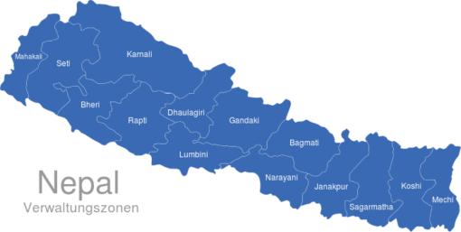 Nepal Verwaltungszonen