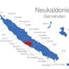 Map Neukaledonien Gemeinden Bourail
