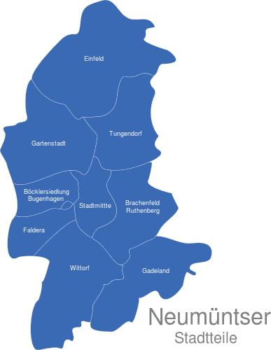 Neumünster Stadtteile