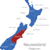 Map Neuseeland Regionen Canterbury