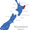 Map Neuseeland Regionen Gisborne