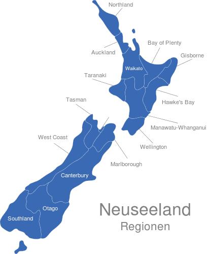 Neuseeland Regionen