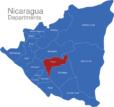 Map Nicaragua Departments Boaco