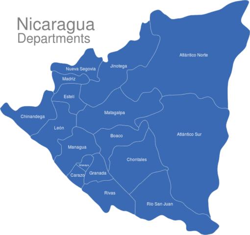 Nicaragua Departments