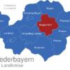 Map Niederbayern Landkreise Deggendorf