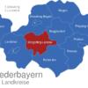 Map Niederbayern Landkreise Dingolfing_Landau