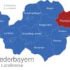 Map Niederbayern Landkreise Freyung_Grafenau