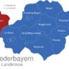Map Niederbayern Landkreise Kelheim