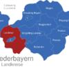 Map Niederbayern Landkreise Landshut