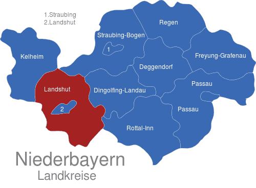 niederbayern karte Niederbayern Landkreise interaktive Landkarte | Image maps.de niederbayern karte