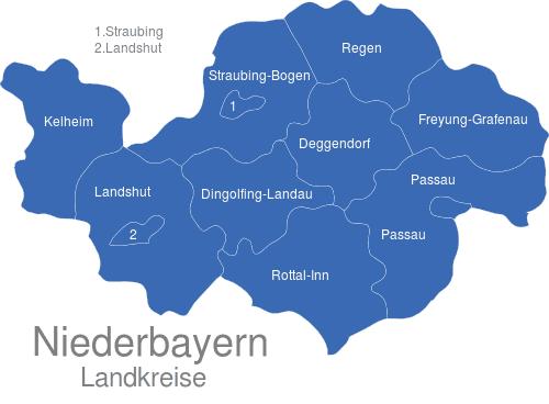 Niederbayern Landkreise