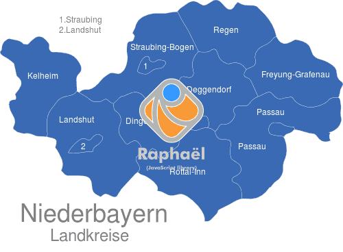 Karte Oberbayern Landkreise.Niederbayern Landkreise