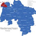 Map Niedersachsen Kreise Aurich