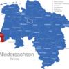Map Niedersachsen Kreise Bentheim