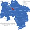 Map Niedersachsen Kreise Bremen