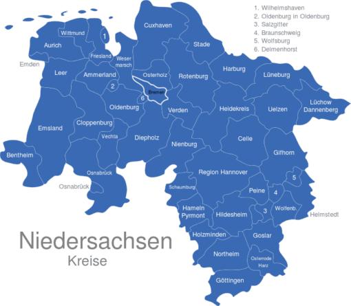 Niedersachsen Kreise