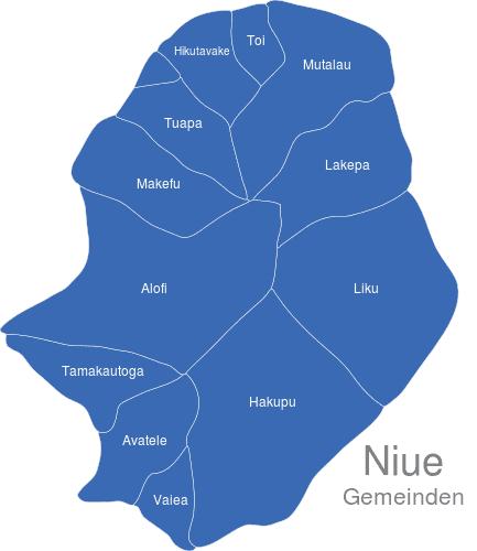 Niue Gemeinden