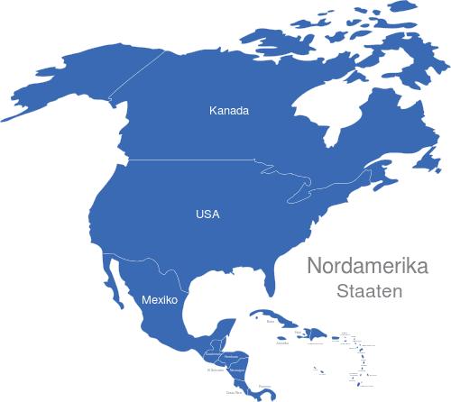 Nordamerika Länder