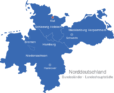 Map Norddeutschland Bundesländer Hauptstädte Kiel