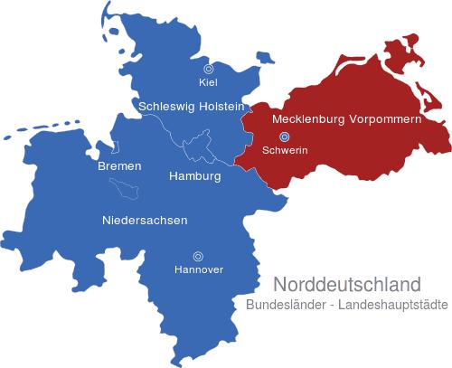 Norddeutschland Bundesländer