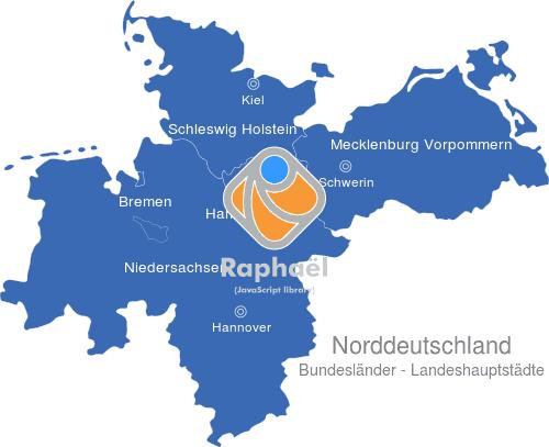 Norddeutschland Bundeslander Hauptstadte Interaktive Landkarte