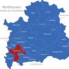 Map Nordhausen Bleicherode