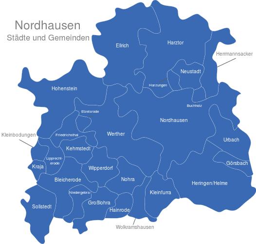 Nordhausen interaktive Landkarte | Image-maps.de