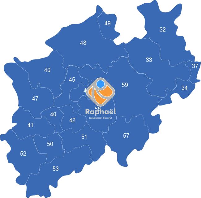 Karte Nrw Plz.Nordrhein Westfalen Nrw Plz