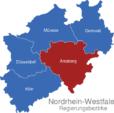 Map Nordrhein Westfalen Regierungsbezirke Arnsberg