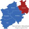 Map Nordrhein Westfalen Regierungsbezirke Detmold