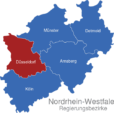 Map Nordrhein Westfalen Regierungsbezirke Dusseldorf