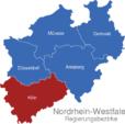 Map Nordrhein Westfalen Regierungsbezirke Koln