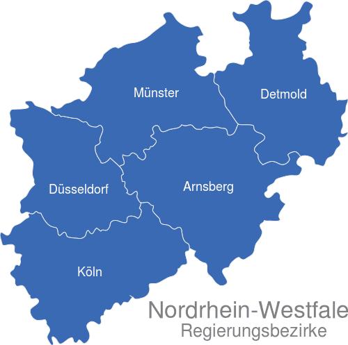 Nordrhein Westfalen Regierungsbezirke