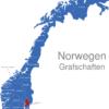 Map Norwegen Grafschaften Akershus