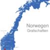 Map Norwegen Grafschaften Aust-Agder