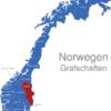 Map Norwegen Grafschaften Hedmark