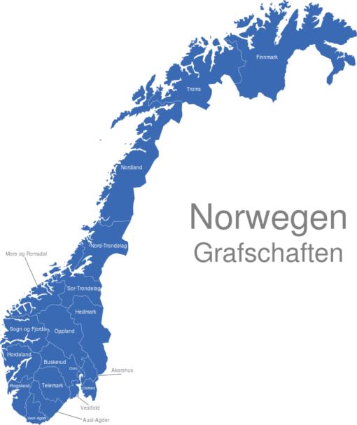 Norwegen Grafschaften