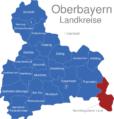 Map Oberbayern Landkreise Berchtesgadener_Land