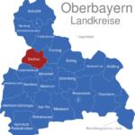 Map Oberbayern Landkreise Dachau
