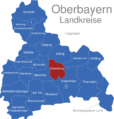 Map Oberbayern Landkreise Ebersberg
